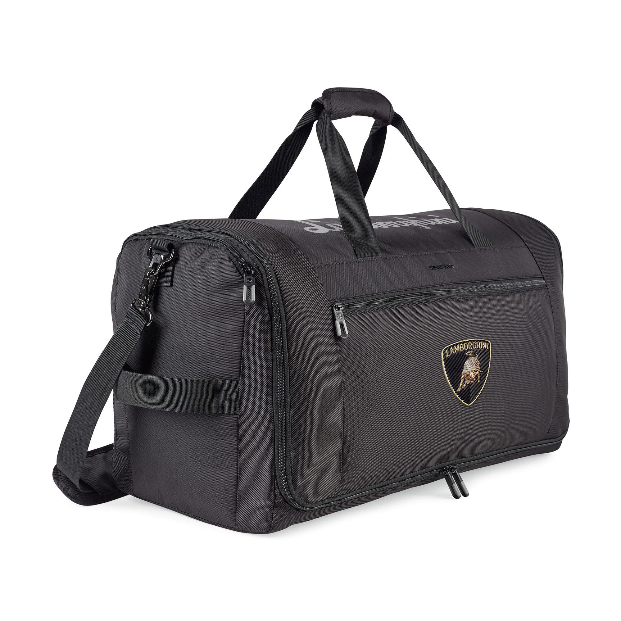 When completely zipper closed, this bag functions as a carry-on sized duffel.