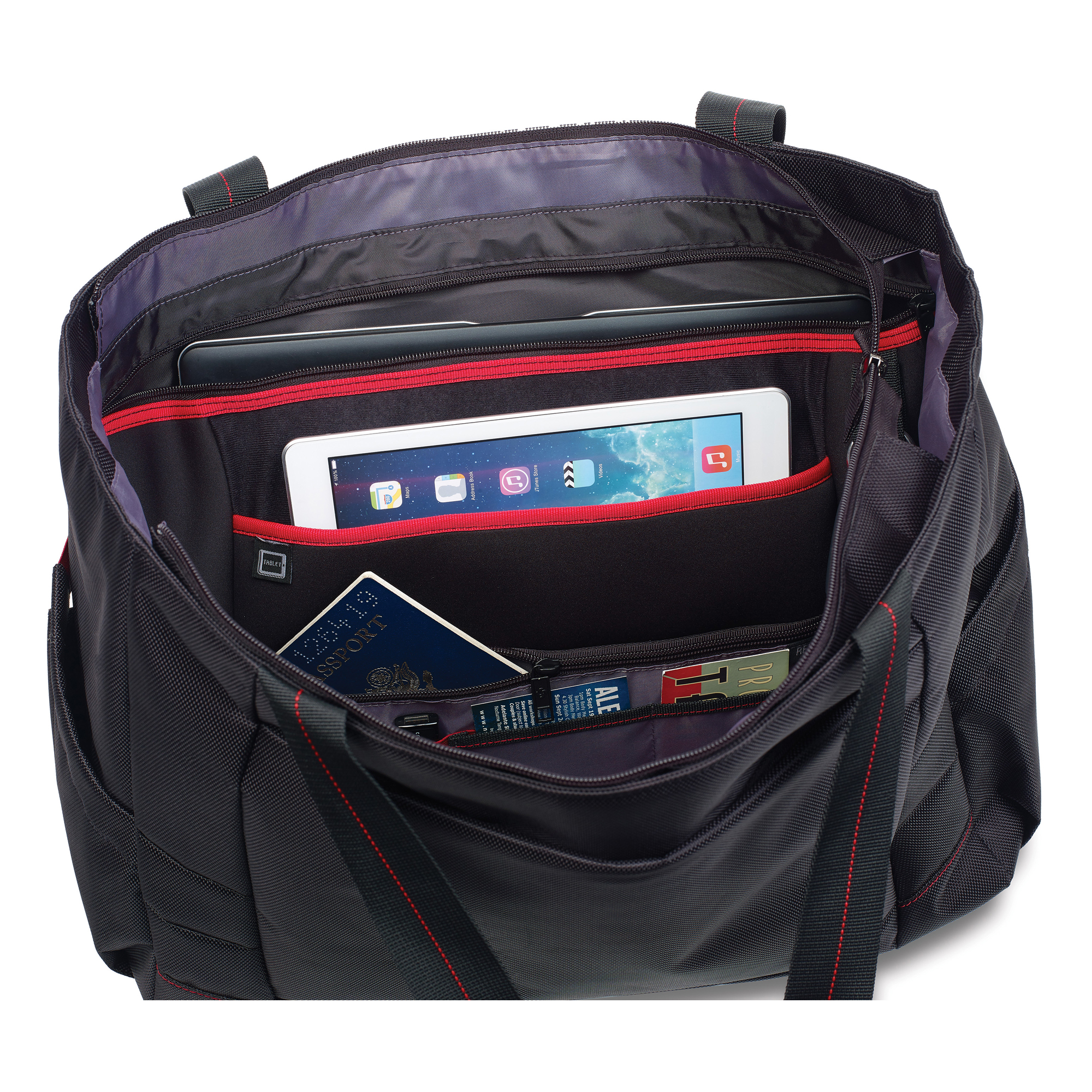 Interior organization is well suited for all your tech items.