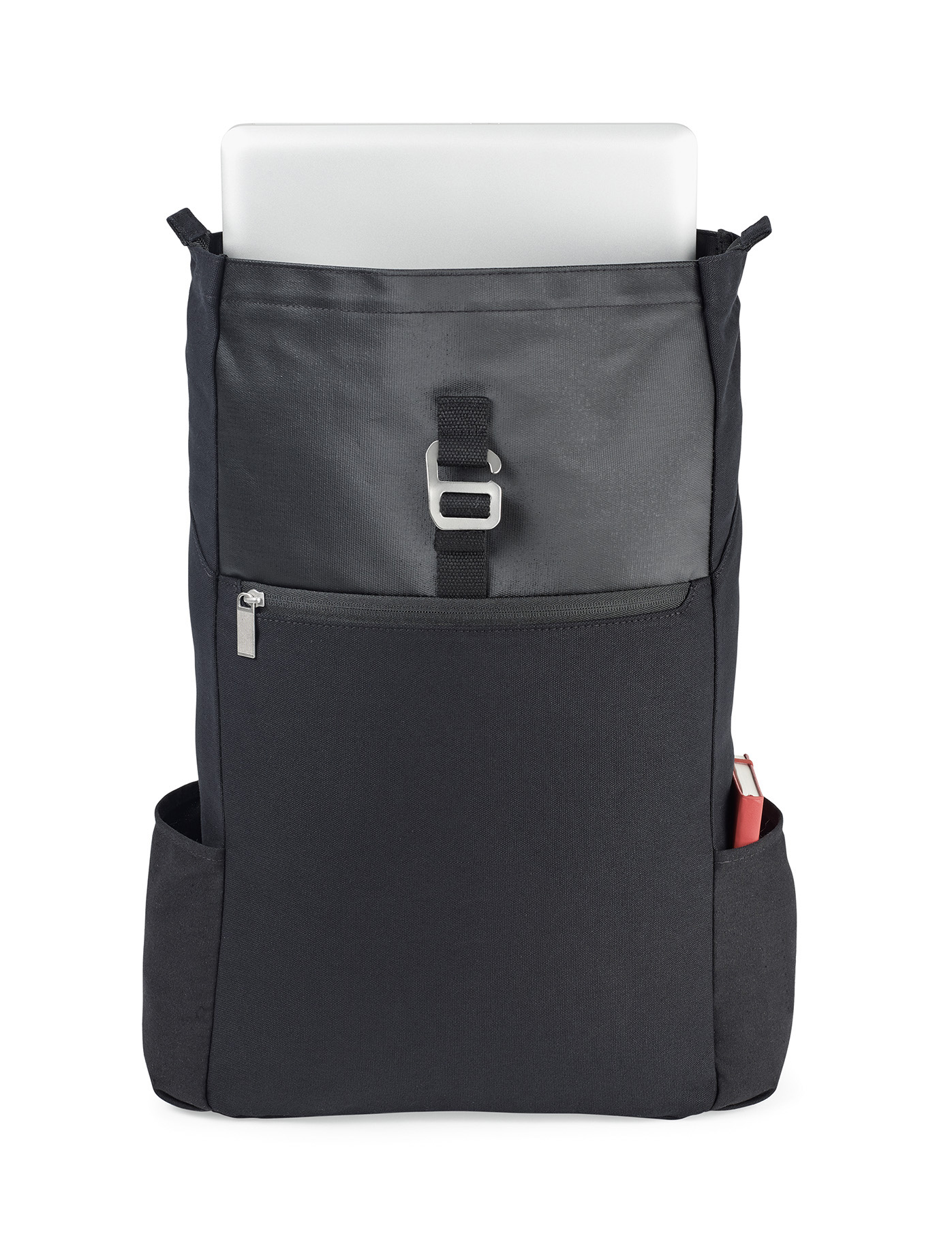 Cotton backpack with coated cotton on top panel and 12oz cotton as main body fabric.