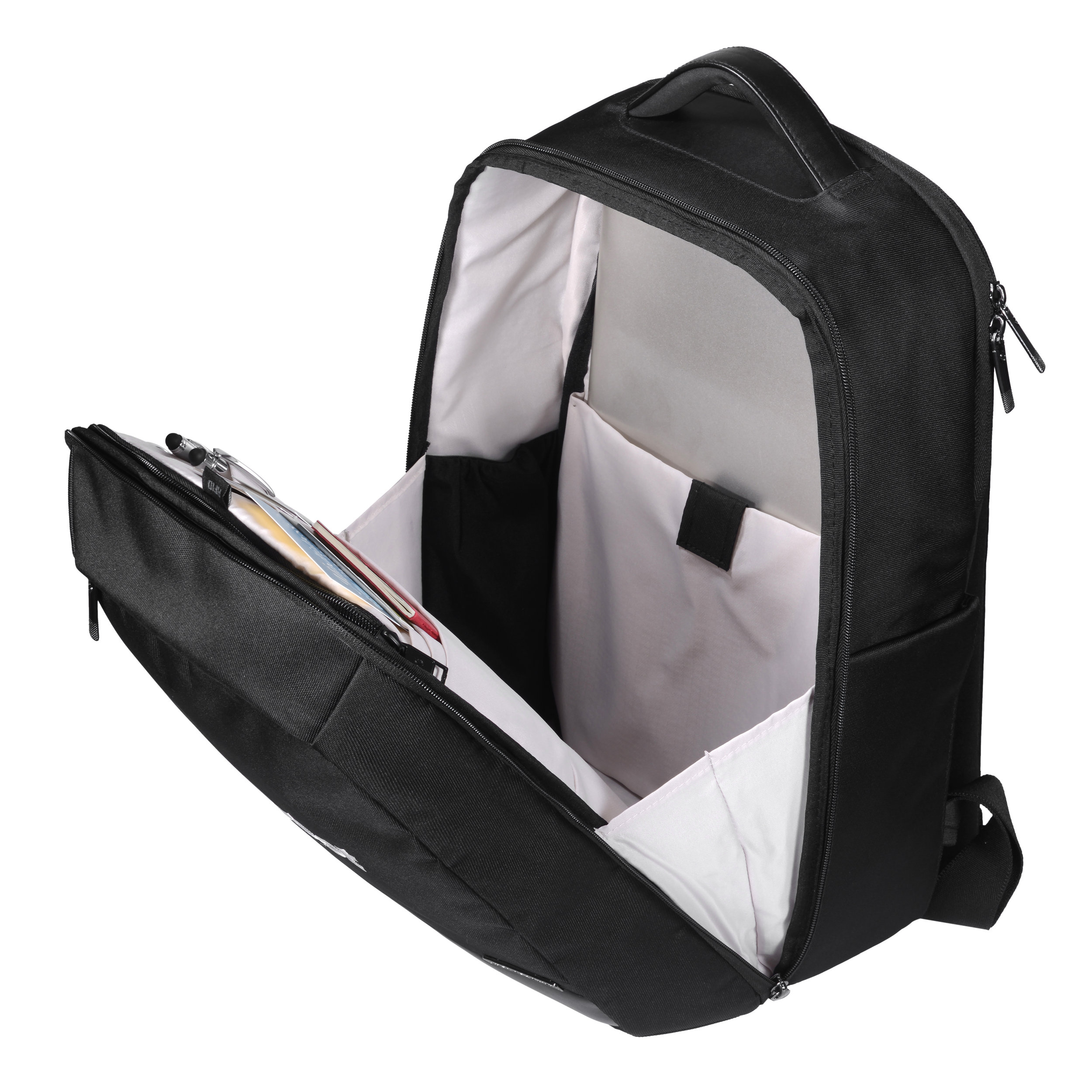 Large interior gusset to allow for easy access to organization.