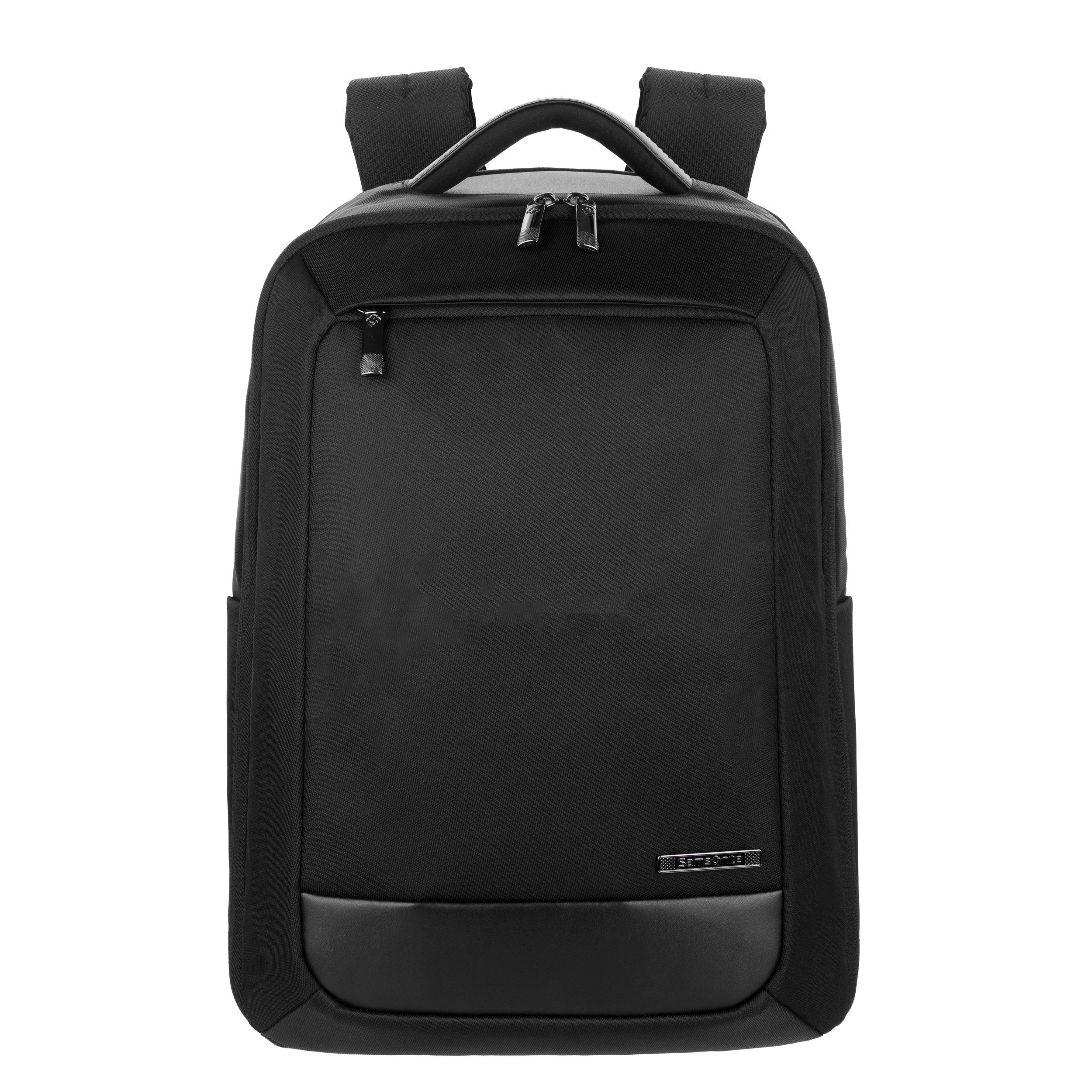 Durable yet sleek twill body material with genuine leather accents.