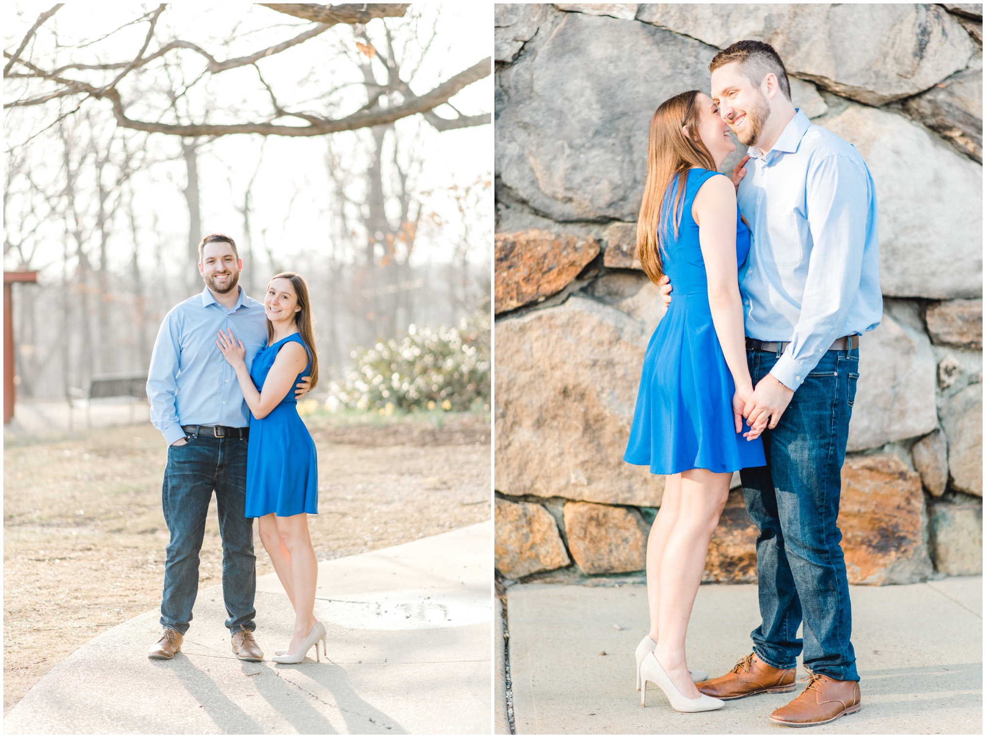 Spring Engagement Session at Rockford Park in Wilmington, Delaware | Krista Brackin Photography