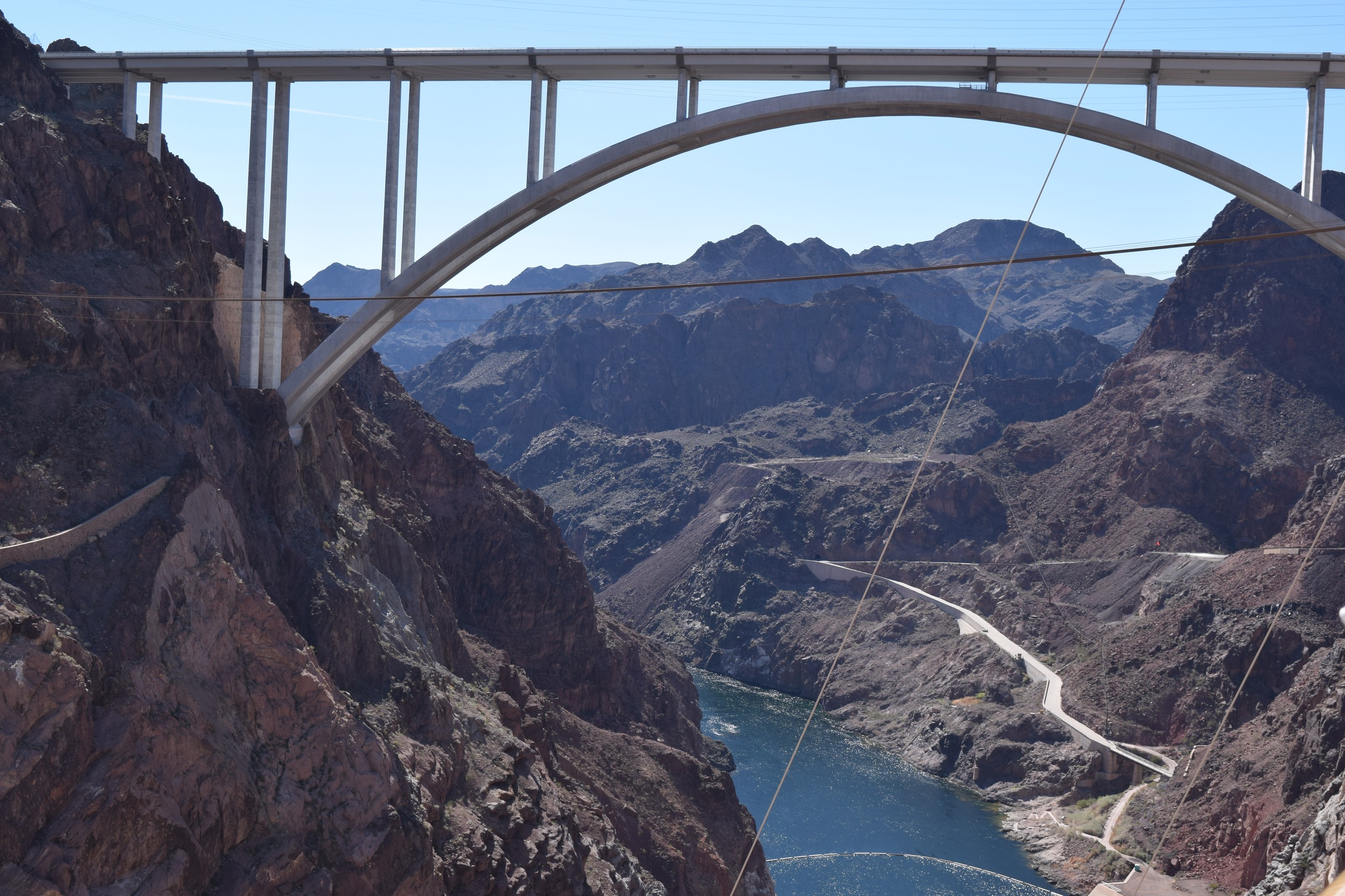 Bridge looking over the Hoover Dam