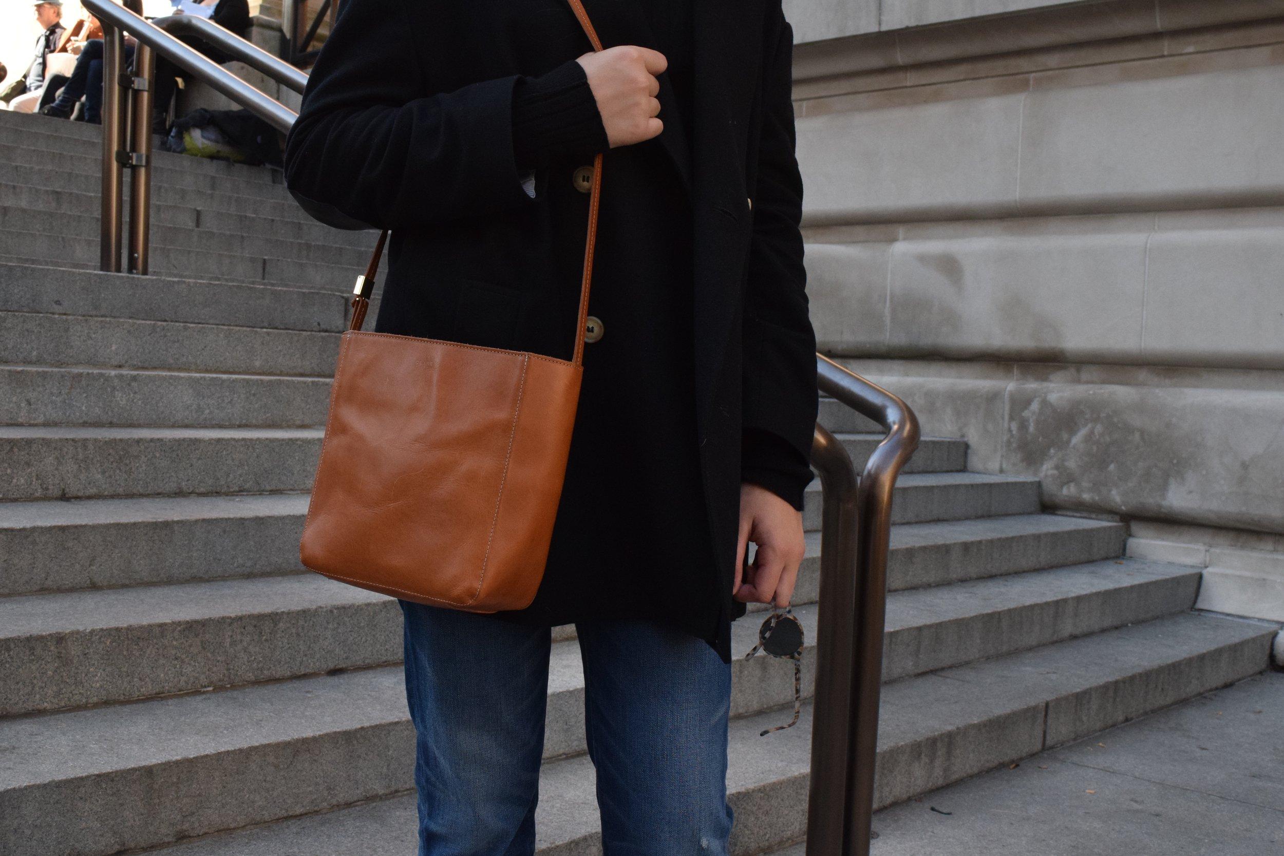 My Clare Vivier purse & my See sunglasses