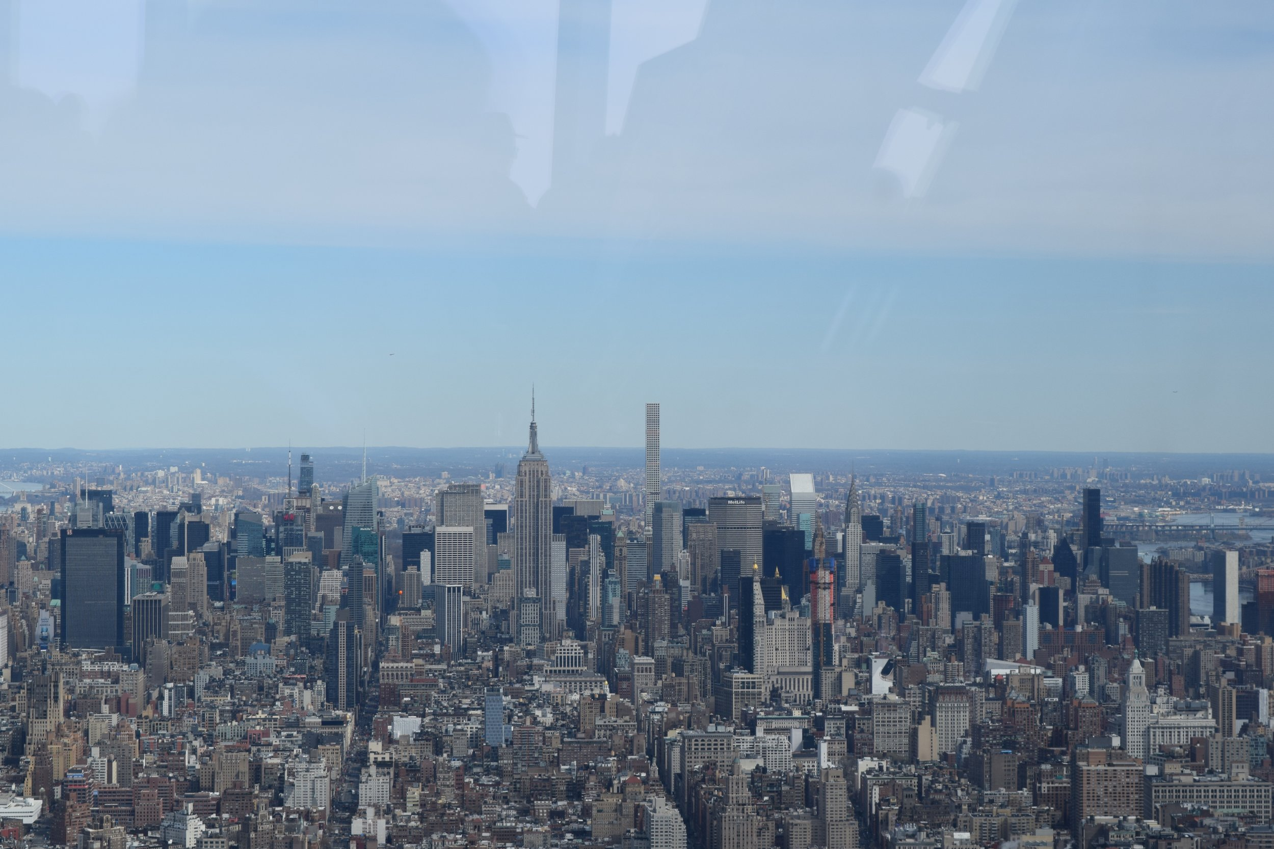 The view from the One World Observatory.