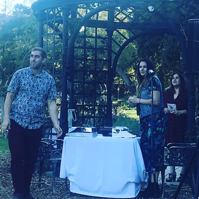 Melrose Poetry Bureau @descansogardens for Night Blooms - gorgeous evening with friends new and old! @rentpoet @nayelipoet @bobgsnapshots @bespokepoets #poet #lindaravenswood #descansogardens #lalit #thelosangelespress #melrosepoetrybureau #performanceart #performancepoetry