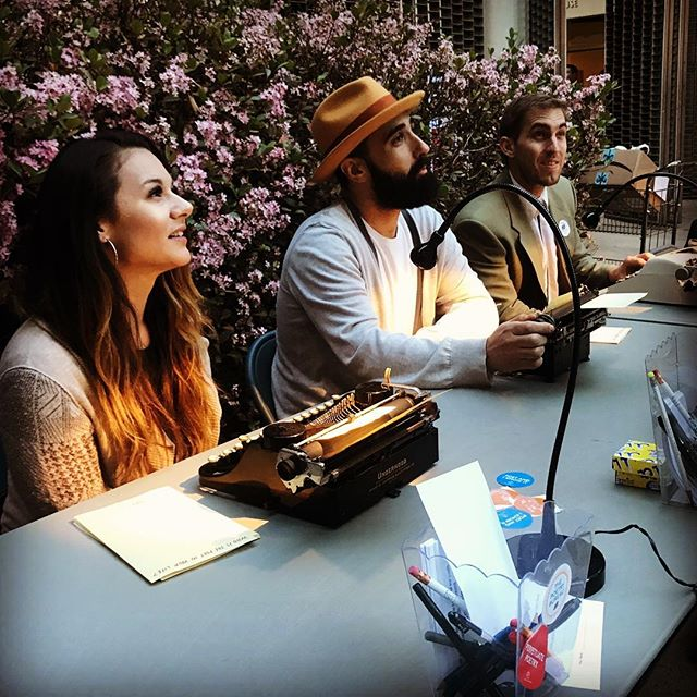 We listen intently. Poems come from the stories!  #melrosepoetrybureau #ucla 📸: @aaronpaley . . . . #poetsofinstagram #spilledink #poetryisnotdead #wordporn #poetsofig #poem #writersofig #writingcommunity #writerscommunity #wordgasm #creativewriting #wordsofwisdom #igpoets #poetryloving #authorsofinstagram #poetry #creative #ig_poets #bloggers #thetwilightfirefly #writings #writersofinstagram #writing #poet #instapoetry #poems #love #typewriter