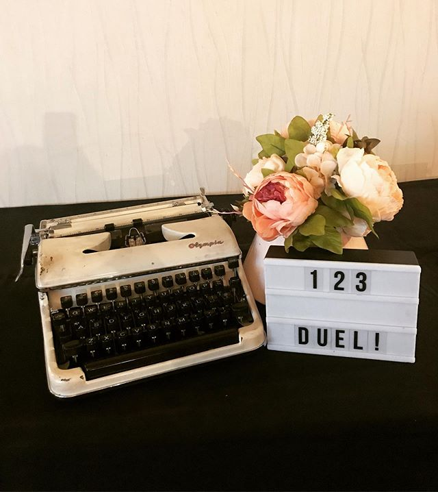 It's duel time.... #typewriter #typewriterpoetry #poem #poet #poetry