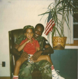 Me and Dad - Then - Me and Dad around the time that he went on deployment and gave me his watch. (He's actually wearing the watchin this picture).