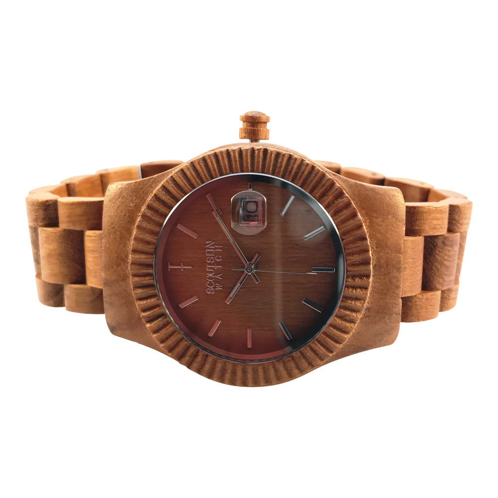 The ScoutsOn Watch Company - The Veteran - Teak - Face on Side.png