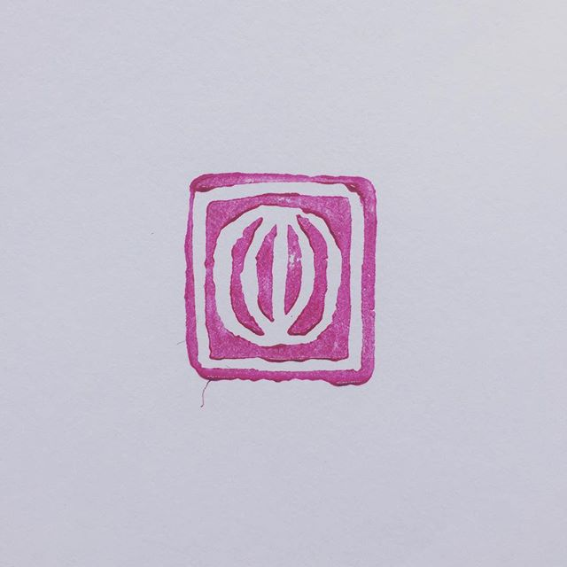 Designing myself a little chop to sign drawings 💗🌸👄 . . . . . #chop #vulva #carving #stamp #handmade #artist #vagina #praiseher #linocut