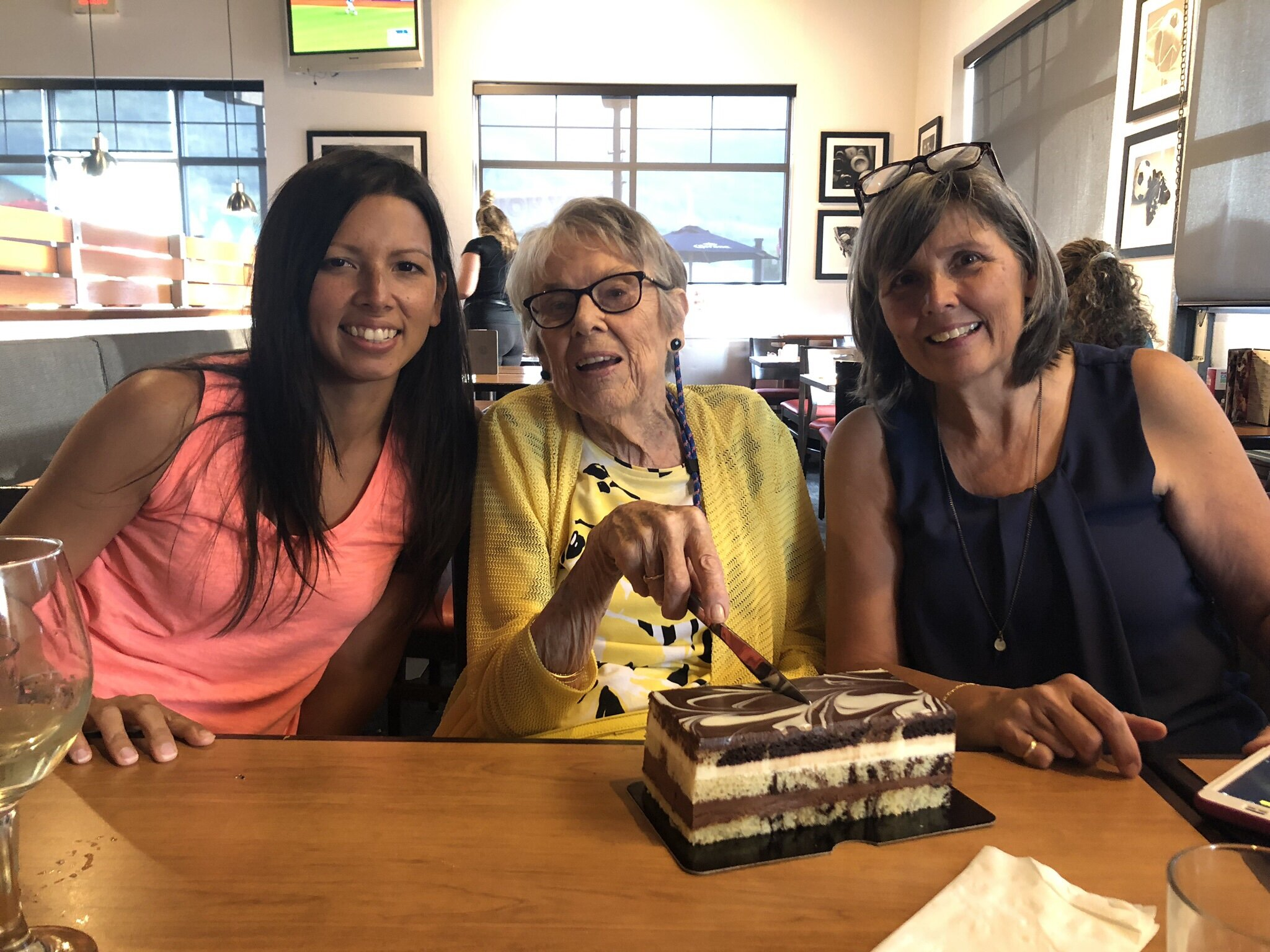 Celebrating Grandma's (mom's mom's) 93rd birthday in August 2019. She is a breast cancer SURVIVOR still going strong!