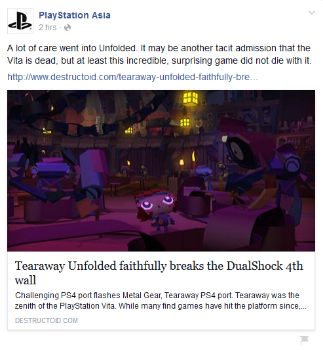 """""""The Vita is dead"""" - Playstation Asia"""