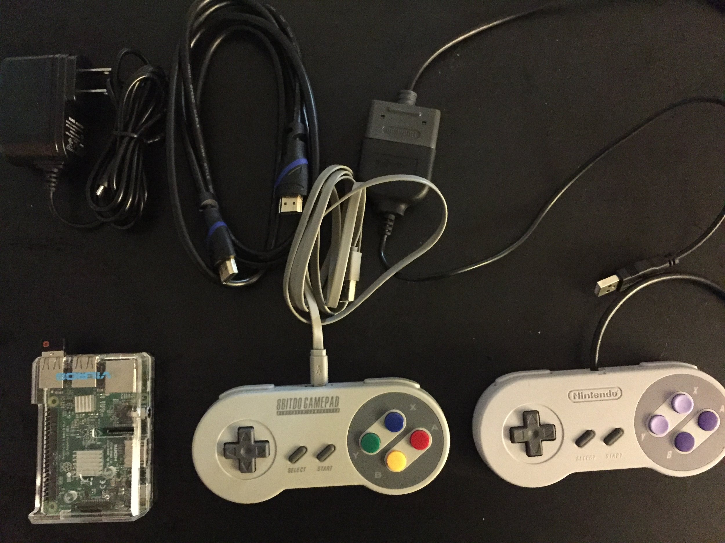 Pretty amazing that the Pi is almost as big/small as the SNES controller.