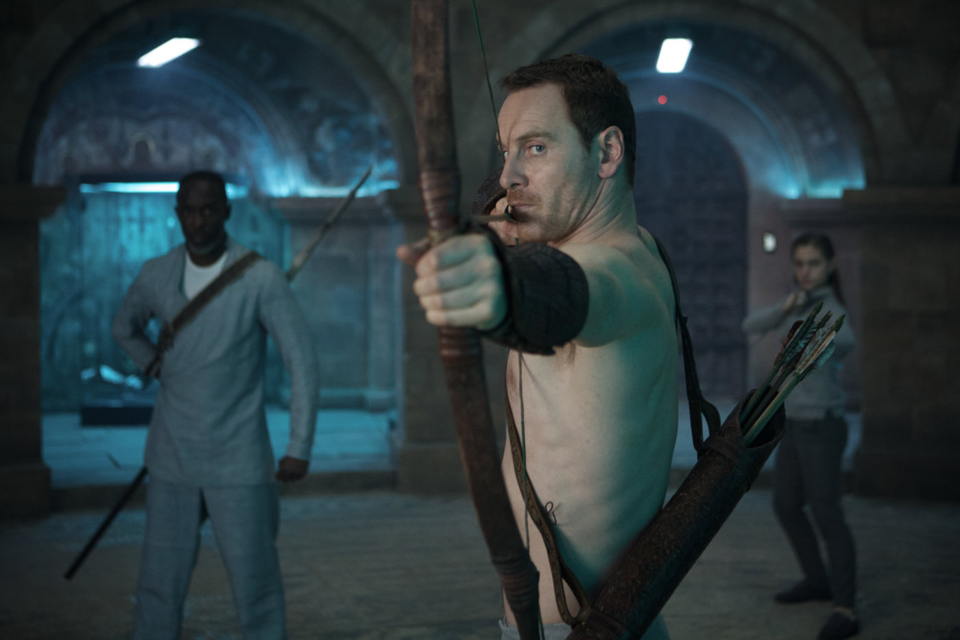 So Mr. Fassbender, we're going to need you to learn to shoot a bow & arrow shirtless because reasons...