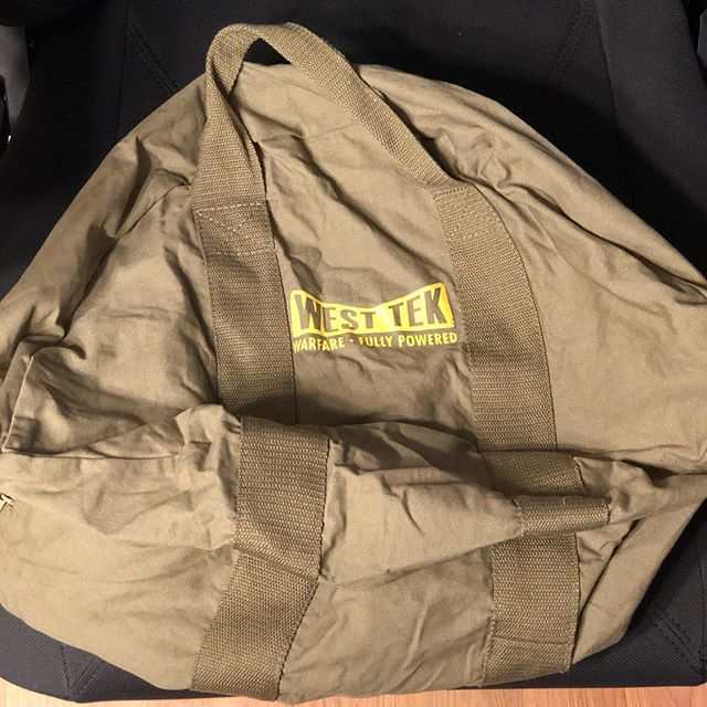 Someone got the fabled Fallout canvas bag.  #fallout #swag #fallout76