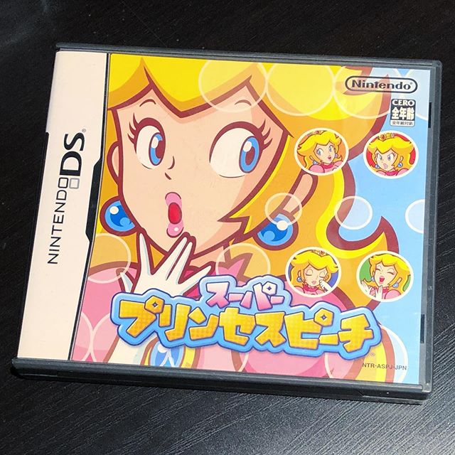 Super Princess Peach  I bought this from @pinkgorillagames way back when before their name change - I think 2007?  #princesspeach #superprincesspeach #nintendo #nintendods #importgames