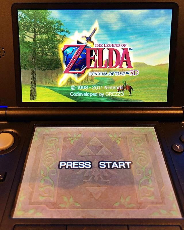 Finally broke this out of the case.  #thelegendofzelda #ocarinaoftime #nintendo #3ds