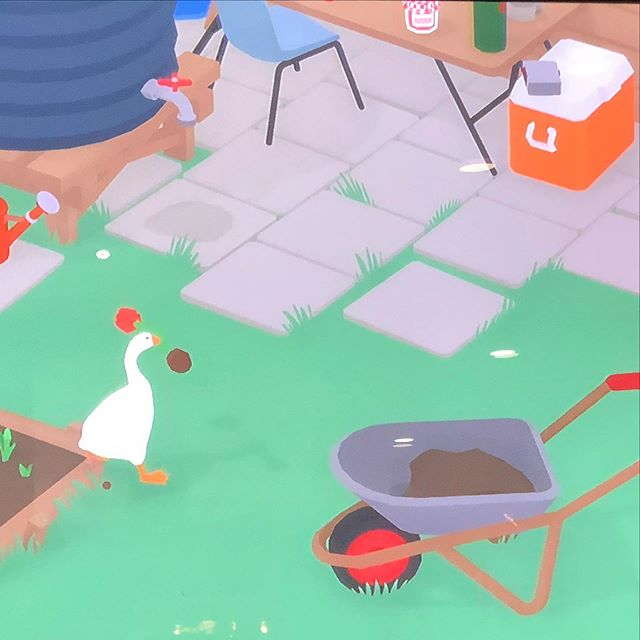 Untitled Goose Game. Strong GOTY contender right now.  #nintendoswitch #untitledgoosegame #indiegames