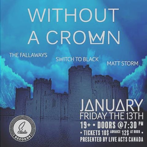 Gettin pumped for friday! We go on at 8:40 along with @without.a.crown @thefallaways and Matt Storm. See ya there!