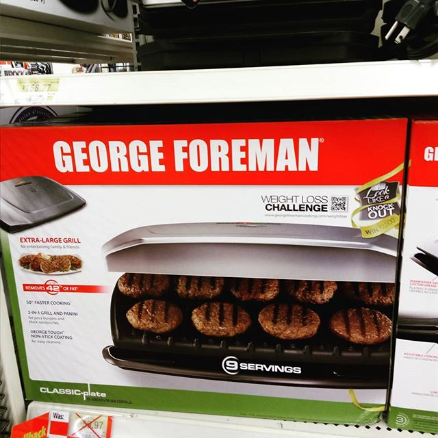 Does george foreman use his own products? #debate #georgeforeman #grill #food #music #switchtoblack #fuckya