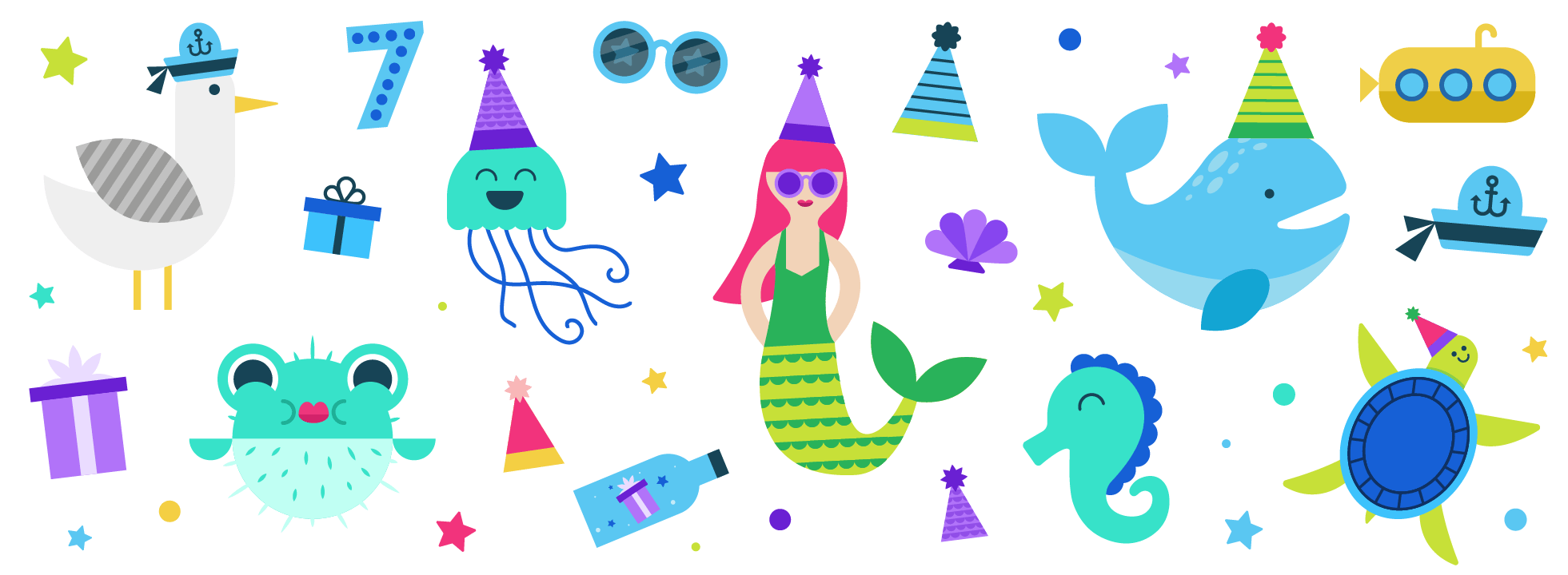 A designer on our team created the illustrations and a color palette, providing me with a head start.