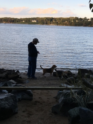 The family by the water.