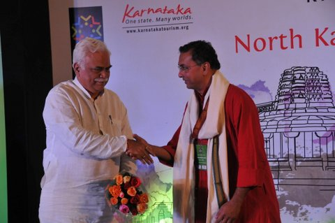 With Tourism Minister, Mr. RV Deshpande