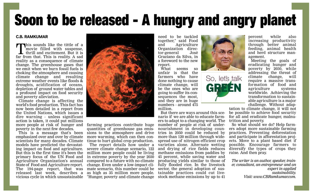 Deccan Chronicle 23 October 2016