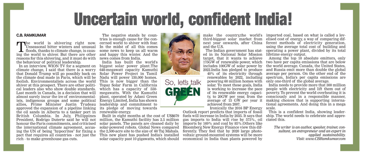 Deccan Chronicle 10 December 2016