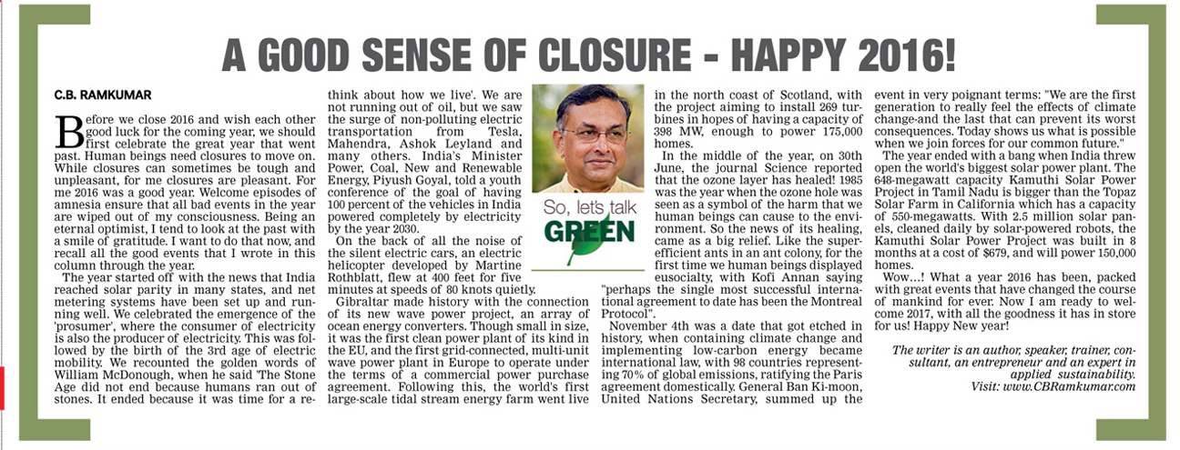 Deccan Chronicle 31 Dec 2016