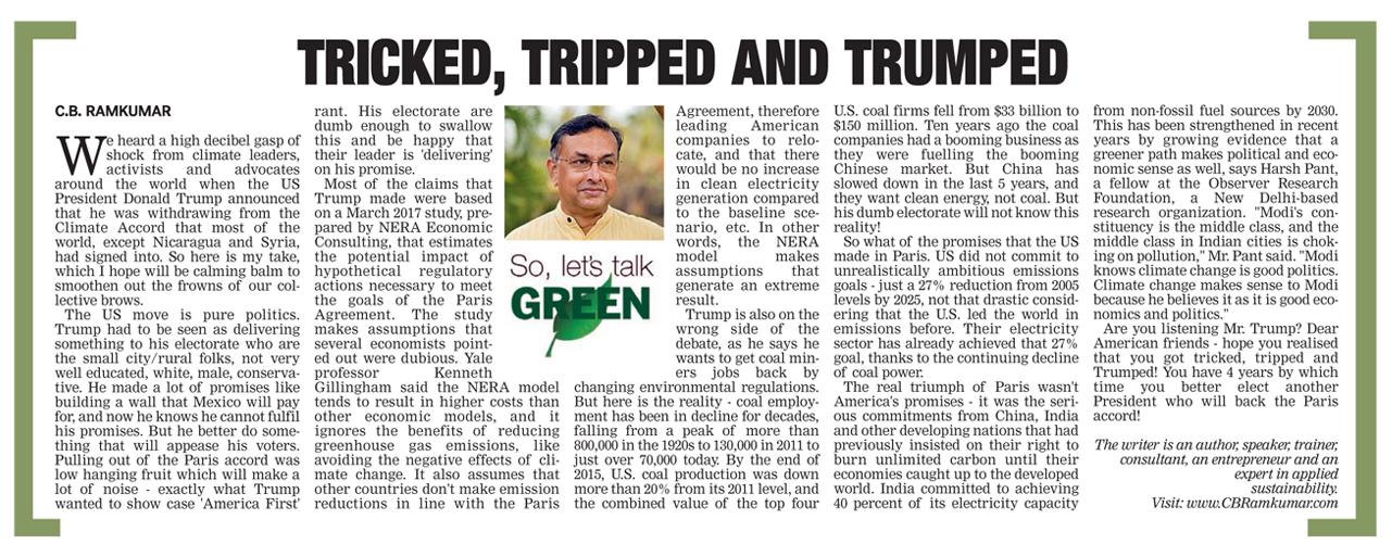 Deccan Chronicle 10 June 2017