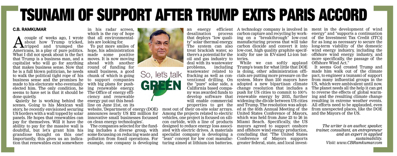 Deccan Chronicle 1 July 2017