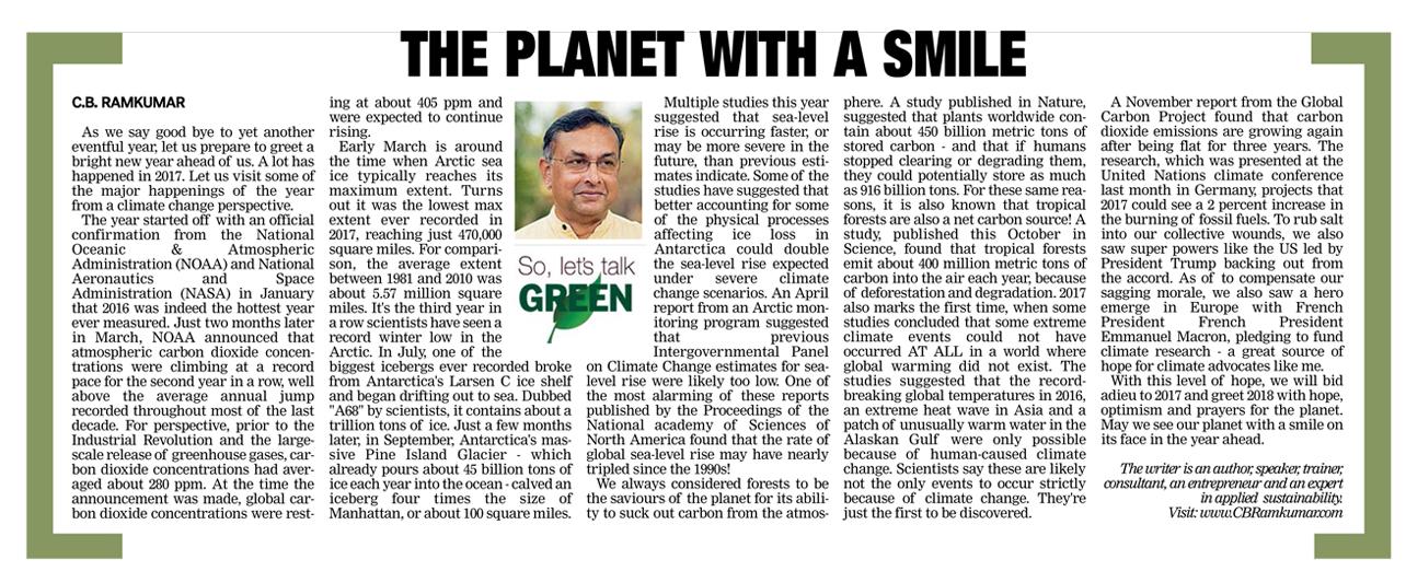 Deccan Chronicle 30 Dec 2017