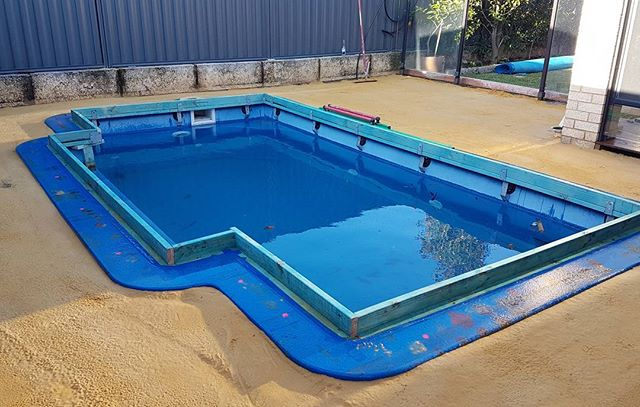 Pool about to have some Exposed Aggregate poured in Aveley  Pool Edge formwork by All Class Concrete (Dm me for contact details)  Siteworks By Proscapes Australia  #exposedaggregate #concrete #formwork #pool #landscape #summer