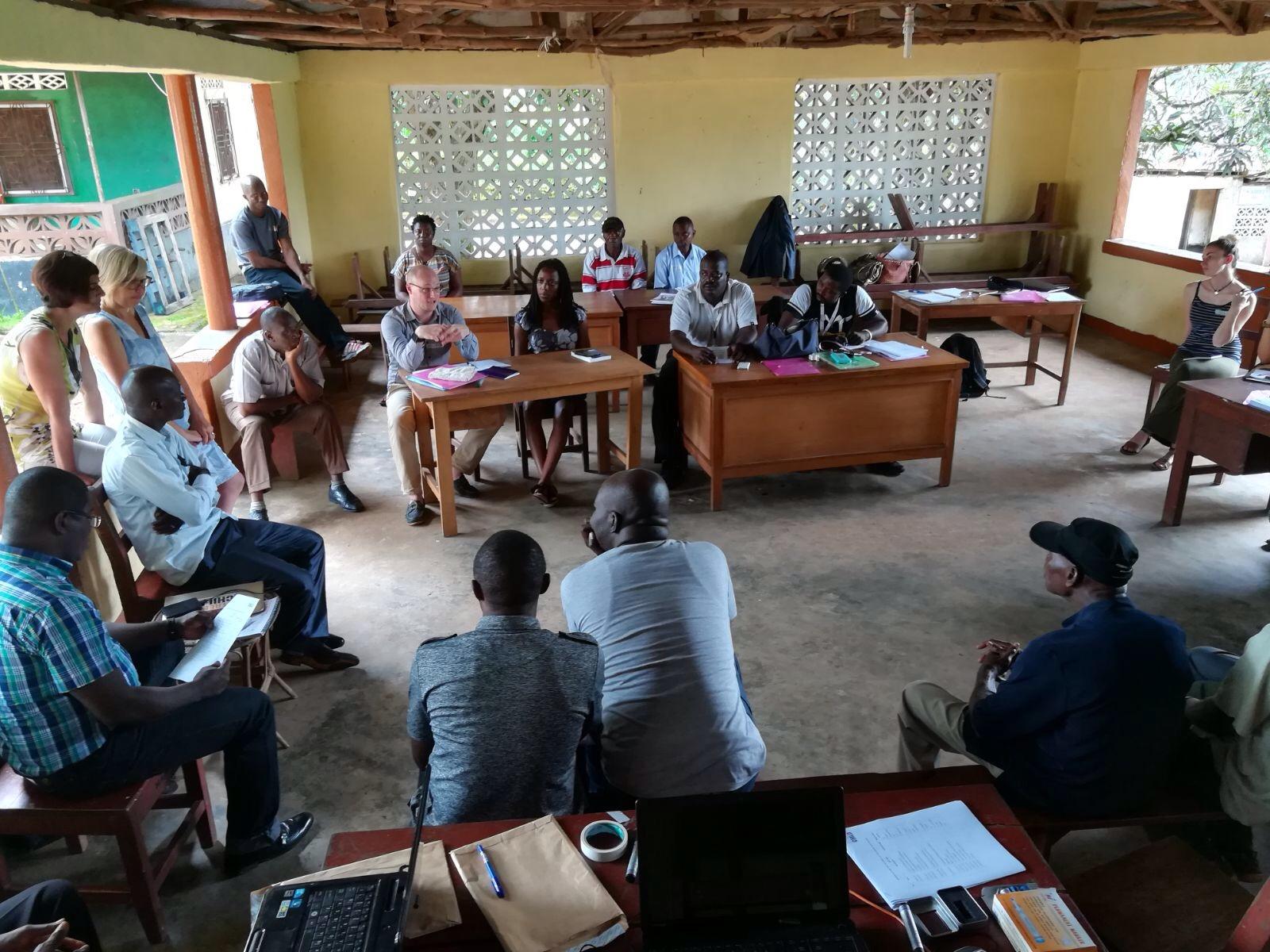 Leraren training Afrika