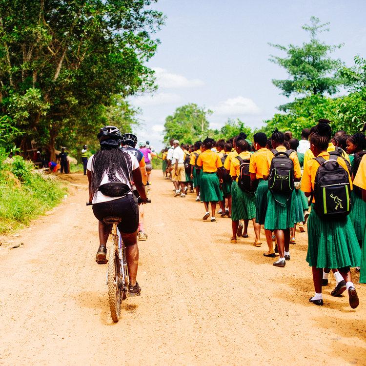 Fiets in Afrika