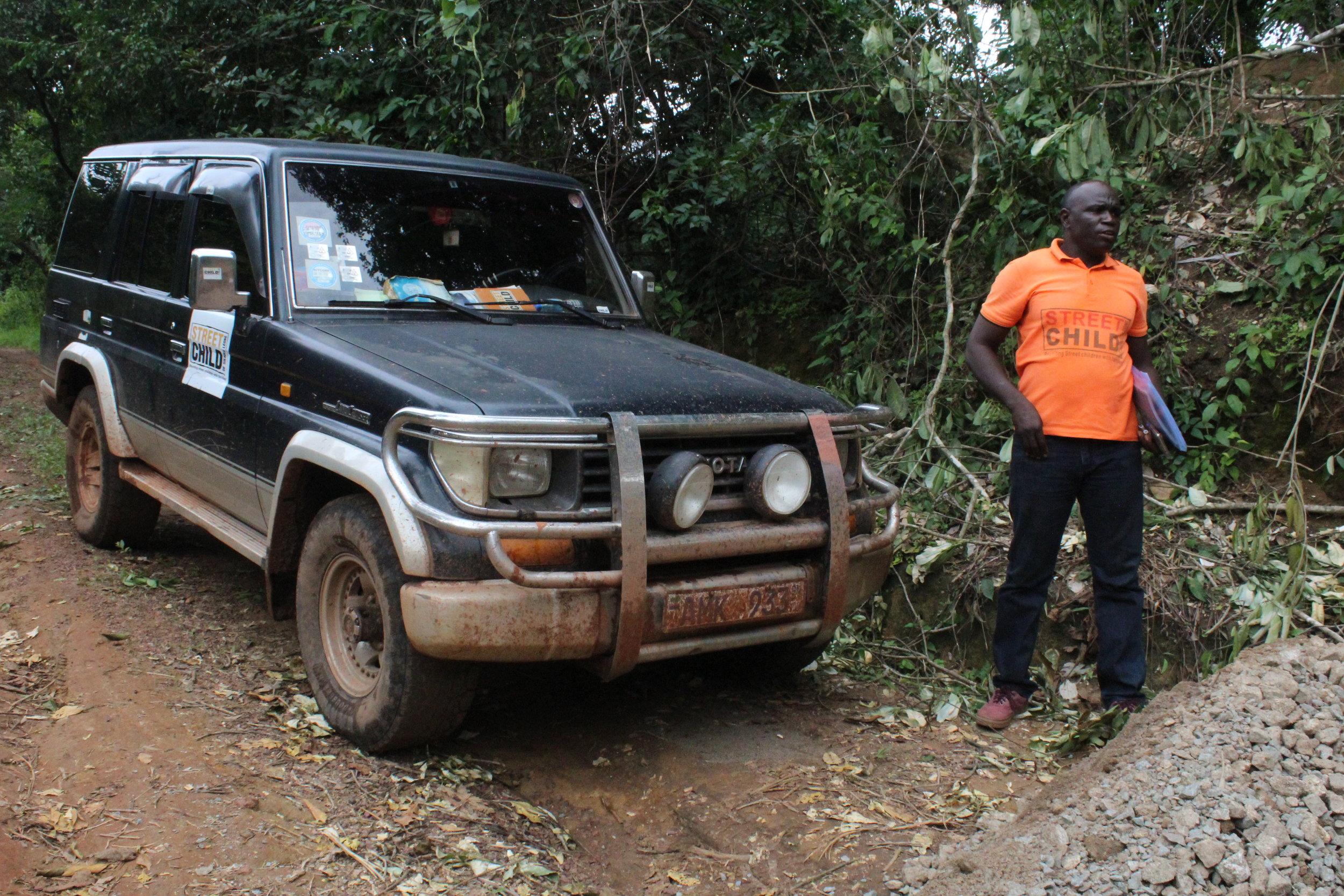 Modderwegen in Sierra Leone