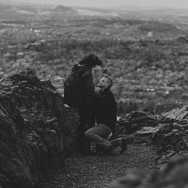 Bryan and Breanna ❤️, Paparazzo style engagement on Arthur's seat.