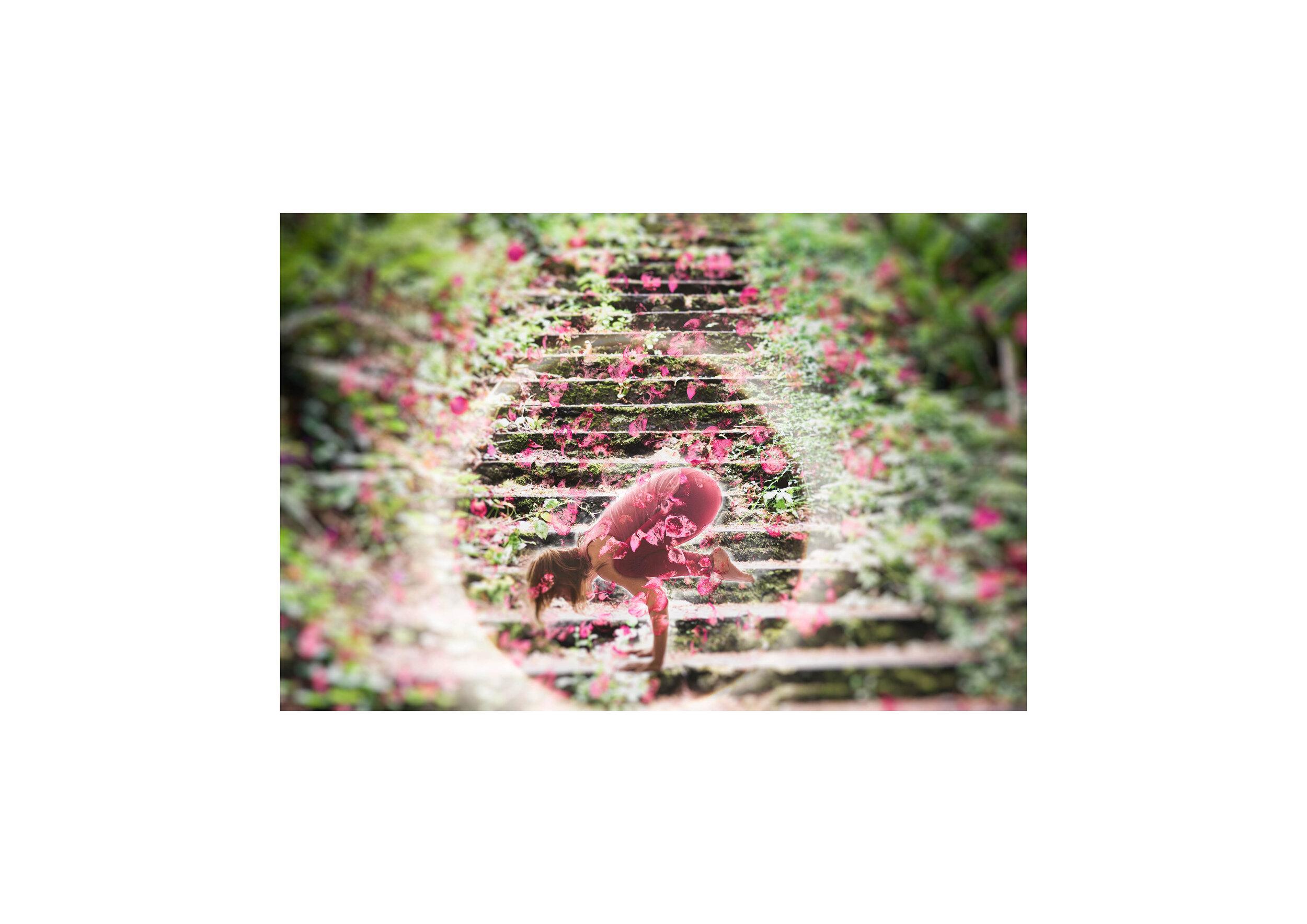 Bakasana on steps