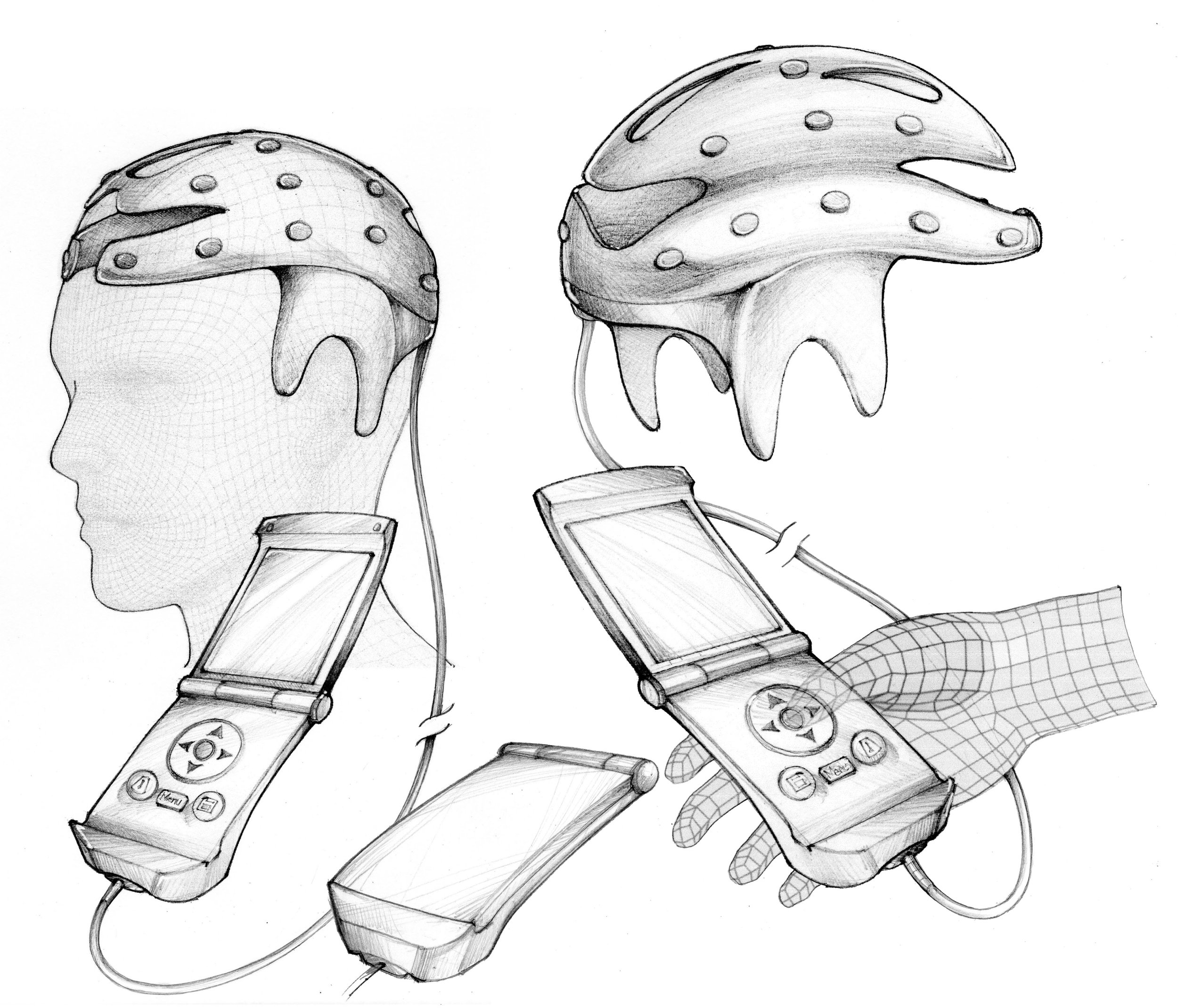 Artistic rendering of a handheld device that automates treatments