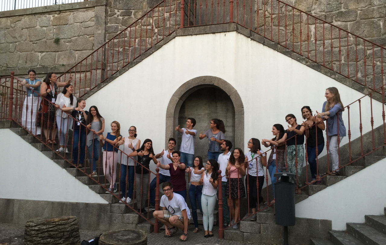 Post-concert good cheer at the 4th Summer Flute Academy at ESMAE, Porto