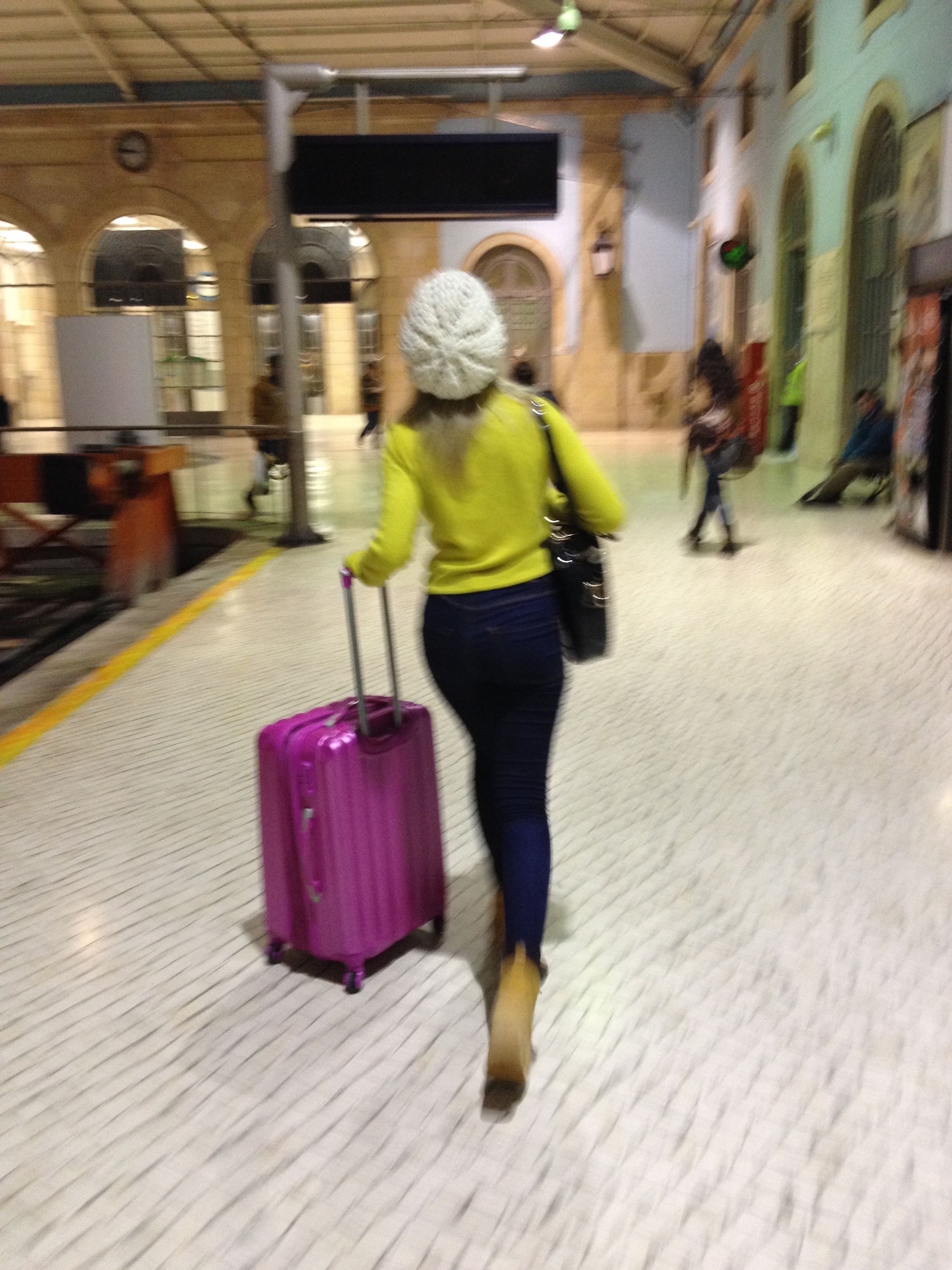 Pure style in Lisbon's Santa Apolónia train station— welcome to Lisbon!