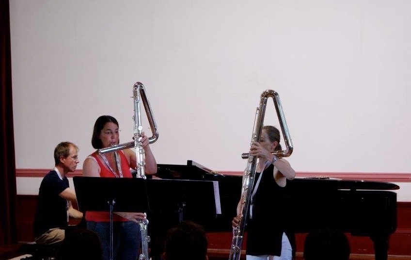 Two Kingma Contrabass Flutes at the 4th Summer Flute Academy