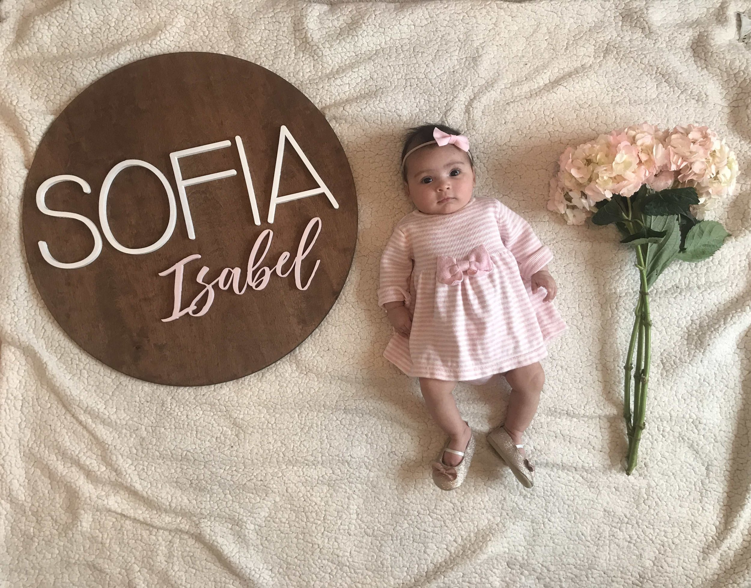Our 2 months old daughter Sofia Isabel