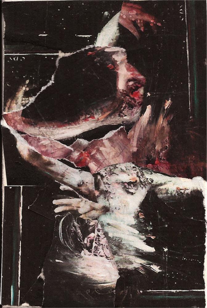 """""""Meditation: V"""" Found Images 4"""" x 6"""" 2013"""
