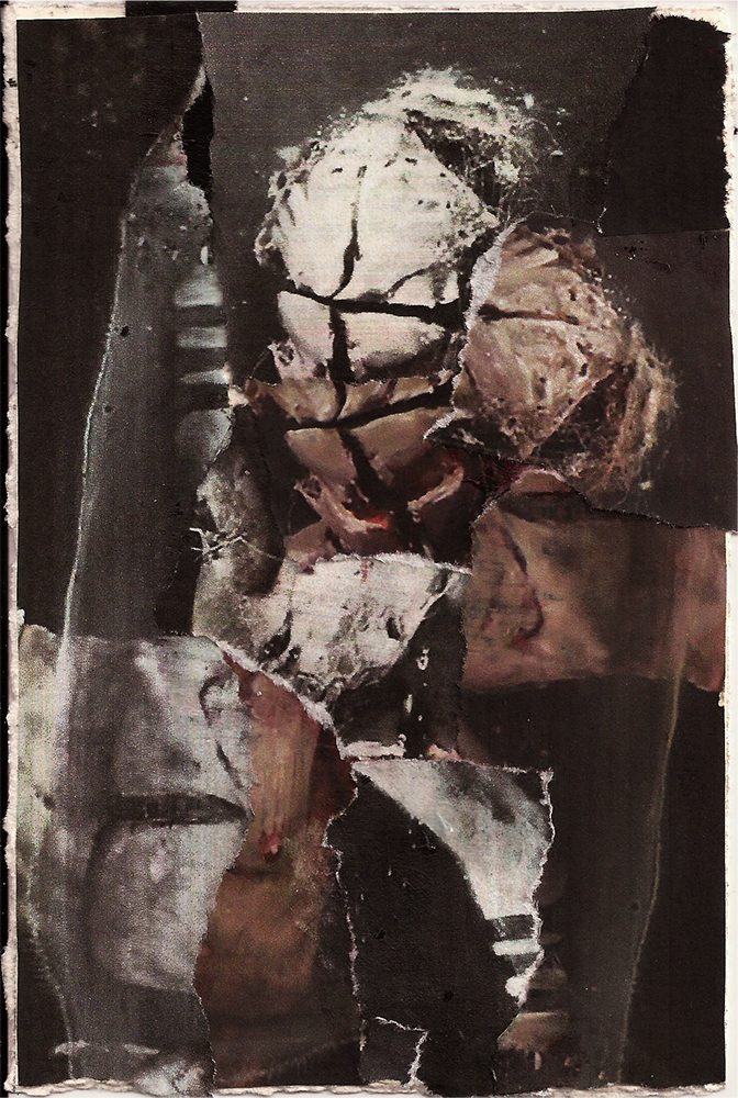 """Meditation: VIII"" Found Images 4"" x 6"" 2013"