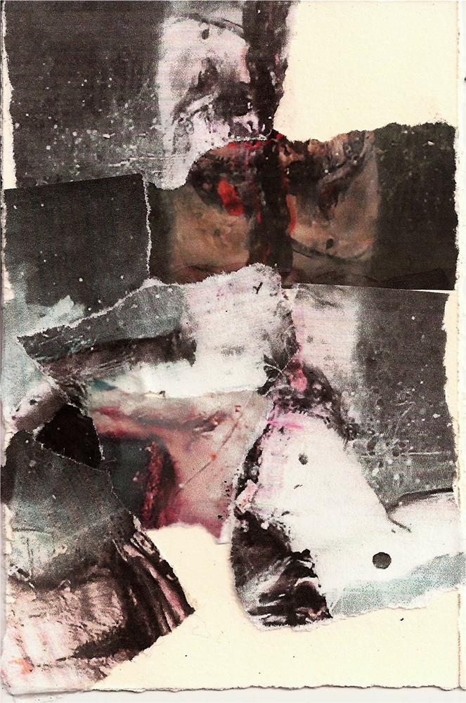 """Meditation: XIII"" Found Images 4"" x 6"" 2013"