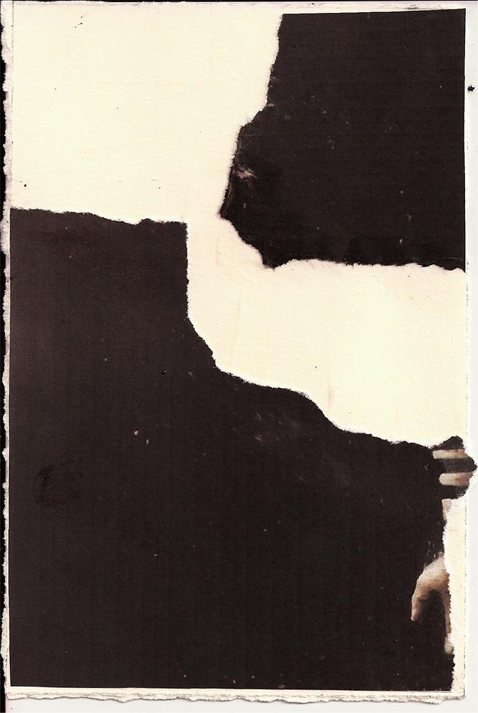 """Meditation: XIV"" Found Images 4"" x 6"" 2013"