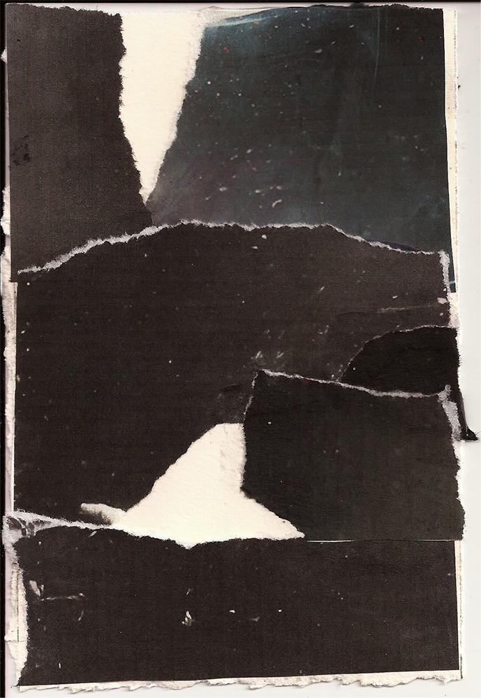 """Meditation: XII"" Found Images 4"" x 6"" 2013"